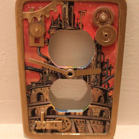 Steam Punk Phineas Fuddle Jules Verne Time Machine by wookiedesign