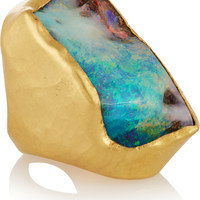 Pippa Small - 22-karat gold opal ring