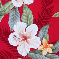 makaha red hawaiian fabric