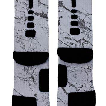Gray Marble Custom Nike Elites