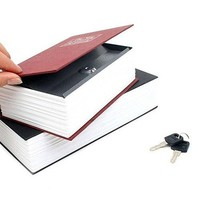 New Creative Booksafe Lock Key Book Safe Diversion Secret Hidden Security Stash Box
