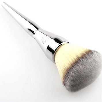Silver Cosmetic Brush Make Up Powder Brush Womens Gift