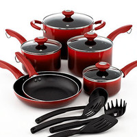 Martha Stewart Collection Ombre Cookware Set, 14 Piece - Cookware - Kitchen - Macy's