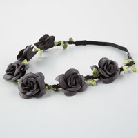 Full Tilt Delicate Flower Crown Headband Black One Size For Women 25805710001