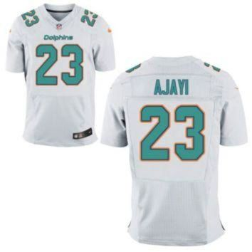 VLX9RV Men's Miami Dolphins #23 Jay Ajayi White Stitched Nike NFL Road Elite Jersey