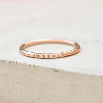 Petite Stacking Ring   Rose Gold