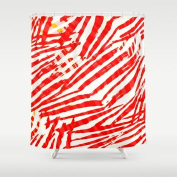 let's go a red blood trip Shower Curtain by hardkitty