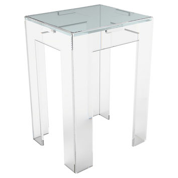 Parsons Side Table, Small, Acrylic / Lucite, Standard Side Tables
