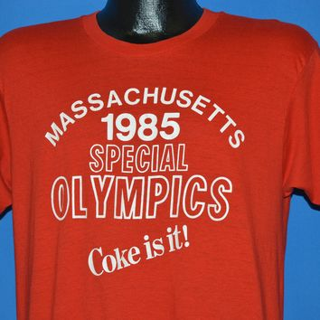 80s Coca Cola Massachusetts Special Olympics t-shirt Large
