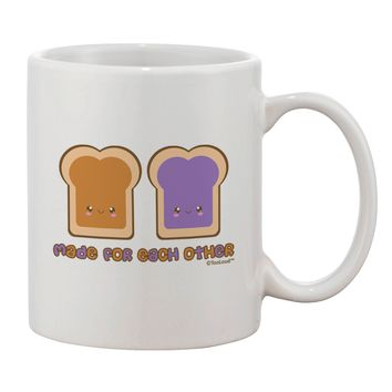 Cute PB and J Design - Made for Each Other Printed 11oz Coffee Mug by TooLoud