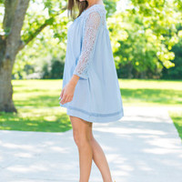 Up To Fate Dress, Powder Blue