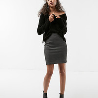 High Waisted Seamed Pencil Skirt