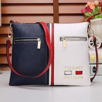 """Tommy Hilfiger"" Women Trending Casual Personality Fashion Multicolor Single Shoulder Messenger Bag"