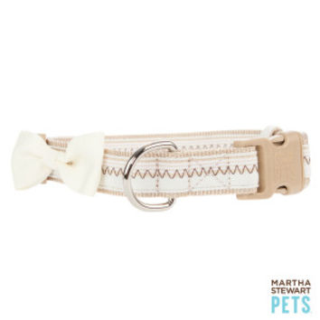 Martha Stewart Pets® Bow Stitch Adjustable Dog Collar | Collars | PetSmart
