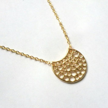 Gold LUNA Necklace, Yoga Jewelry, Layering necklace, mother, wife, sister, daughter, Yoga Necklace, birthday, wedding jewelry, fall fashion,