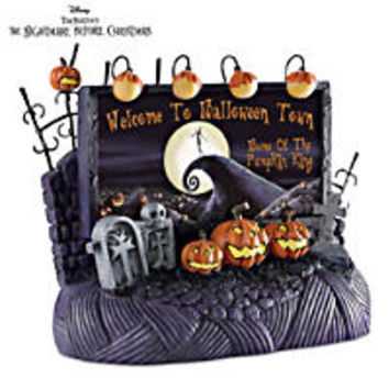 the nightmare before christmas cookie jar with jack skellington and sally