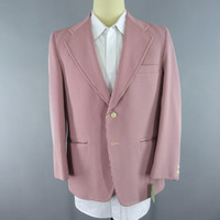 Vintage 1970s Blazer / 70s Jacket / 1960s Sport Coat / Red Pinstripe / Preppy Nautical Boating