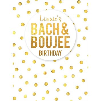 Custom Birthday Bach and Boujee Party Backdrop (Any Color) Background - C0272