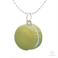 Scented Pistachio French Macaron Necklace
