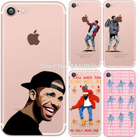 For iPhone 7 7plus 5 5S SE 6 6S 6plus 6Splus casePoor Crying Drake Hotline Bling soft clear silicon TPU Case Cover Phone Case