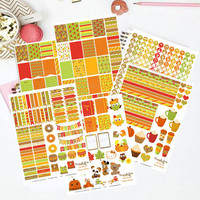 50% OFF Sale! DIY October Fall Harvest Printable Planner 450 Stickers pdf and 6 jpeg Erin Condren Life Planner Kikkik Filofax