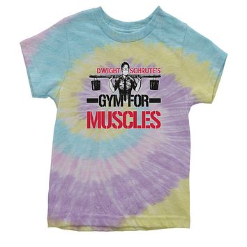 Dwight Schrute Gym For Muscles Youth Tie-Dye T-shirt