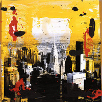 Yellow City Print by Tony Soulie at eu.art.com