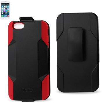 REIKO IPHONE 6 PLUS HYBRID HEAVY DUTY HOLSTER COMBO CASE IN RED BLACK