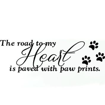 The Road To My Heart... Wall Decal