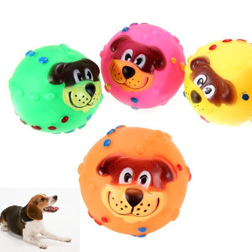 Cute 1pcs Soft Rubber Dog Chew Squeaker Toy