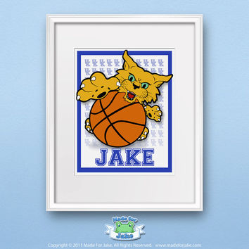 Baby UK Kentucky Wildcat Print Personalized nursery kids room LIMITED EDITION (8x10 Print Only)