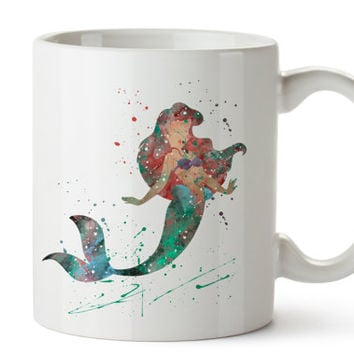 Ariel Coffee Mug, Kids Mug, Little Mermaid Mug
