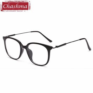 Chashma Brand Full Rim Eyeglasses Fashion Optical Frames Clear Lenses TR90 Men Glasses Trend Glasses Big Circle Frames Women