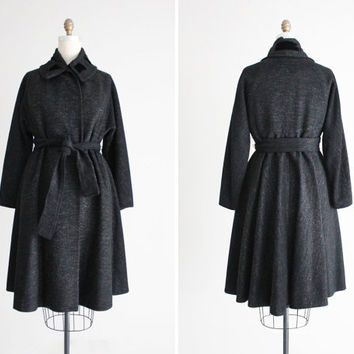 princess coat / Lilli Ann coat / vintage 50s wool coat