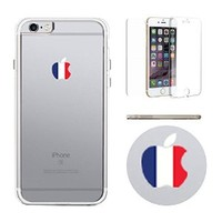 365Printing 360° Full Protection Apple Shape France Flag Transparent iPhone Case