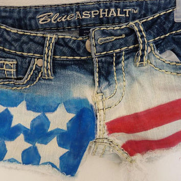 American Flag shorts by RealRebel on Etsy