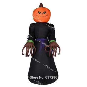 Inflatable Halloween Decoration Large Yard Decoration Pumpkin Inflatable Decoration with LED Light