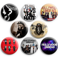 Hollywood Undead Pinback Buttons Badges 1.25 inch Set of 8