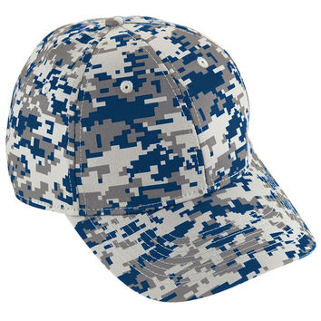 Augusta 6208 Camo Cotton Twill Cap - Navy Camo
