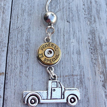 Bullet jewelry. Bullet belly ring