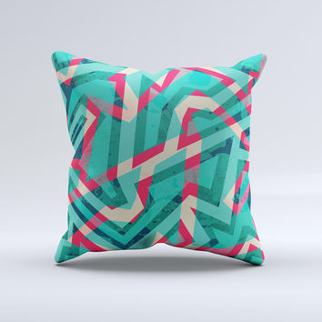 The Trippy Retro Pattern ink-Fuzed Decorative Throw Pillow