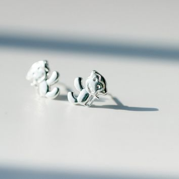 Lovely little monkey 925 Sterling Silver Earrings ,a perfect gift