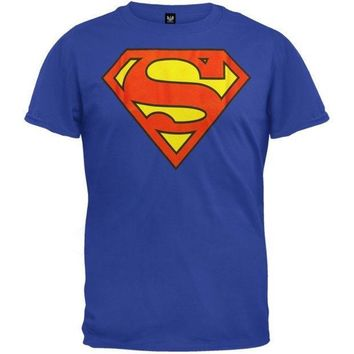 Superman   Superman Shield Logo Blue T Shirt = 1946649220