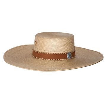 Charlie 1 Horse Vaquero Straw with Leather Band Hat