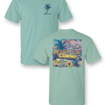 Sassy Frass Life's Grand with my Toes in the Sand Beach Comfort Colors Girlie Bright T Shirt
