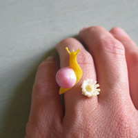 The Pesky Pretties Ring (pink and yellow) - NEW FLOWER