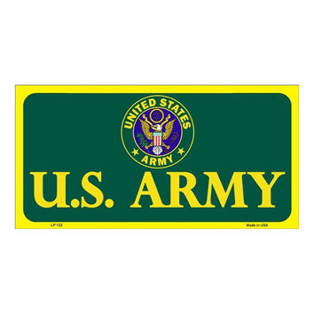 Smart Blonde United States Army Novelty Vanity Metal License Plate Tag Sign