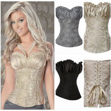 fashion Women sexy lingerie Underwear corsets Lace Shapewear Gothic Overbust waistband Bustier Body Shaper S-6XL [8361477319]