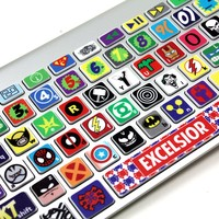 Macbook Keyboard Super Hero Skin / Vinyl Decals