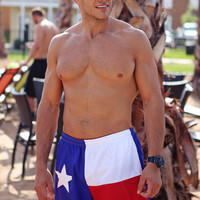 Texas Flag Red White & Blue Shorts | San Marvelous